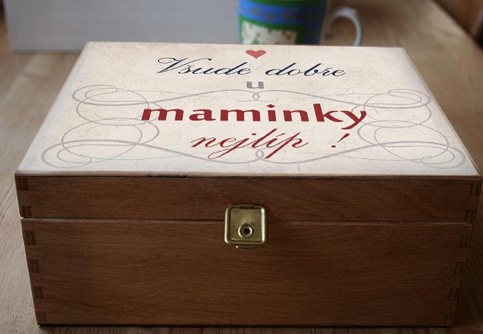 dárek mamince k narozeninám Dárek pro maminku, kazeta na čaj dárek mamince k narozeninám