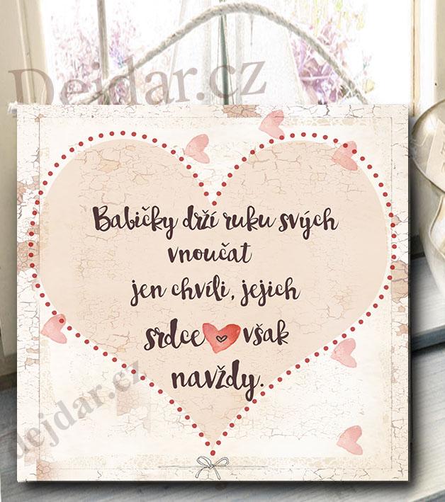 přání k narozeninám texty babičce dárek pro babičku   cedulka s nápisem přání k narozeninám texty babičce